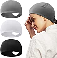 Syhood Women's Ponytail Hat Skull Cap for Cycling Run