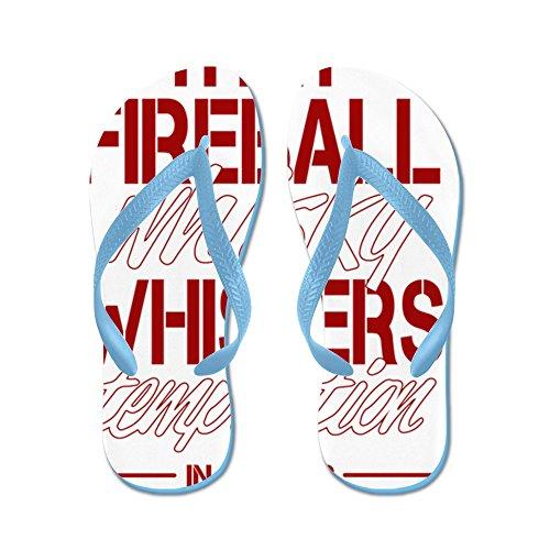 CafePress Fireball Whisky - Flip Flops, Funny Thong Sandals, Beach Sandals Caribbean Blue