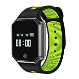Auntwhale IP67 Waterproof Smart Band Android,IOS,Information Push, Heart Rate Monitoring, Pedometer, Sleep Monitoring - Green