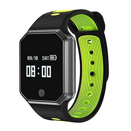 Auntwhale IP67 Waterproof Smart Band Android,IOS,Information Push, Heart Rate Monitoring, Pedometer, Sleep Monitoring - Green by Auntwhale