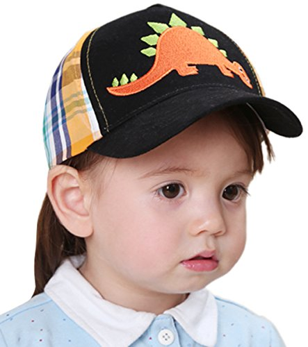 Baby Embroidery Dinosaur Baseball Cap UV Protection Hat for 3-6 Years (Boys Baseball Costumes)