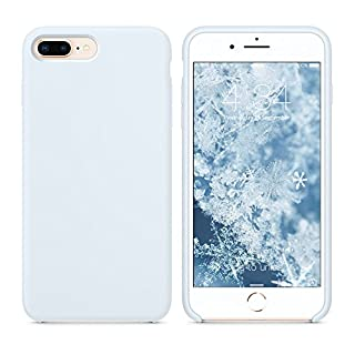 "SURPHY Silicone Case for iPhone 8 Plus/iPhone 7 Plus Case, Soft Liquid Silicone Rubber Slim Phone Case Cover with Microfiber Lining for iPhone 7 Plus iPhone 8 Plus 5.5"", Sky Blue"