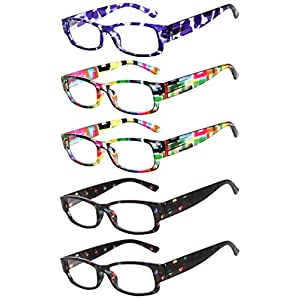 Readers 5 Pack Reading Glasses Ladies Spring Hinge 180 Days Guarantee +2.5