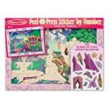 Melissa & Doug Peel and Press Sticker by Number Activity Kit: Fairytale Princess - 80+ Stickers, Frame