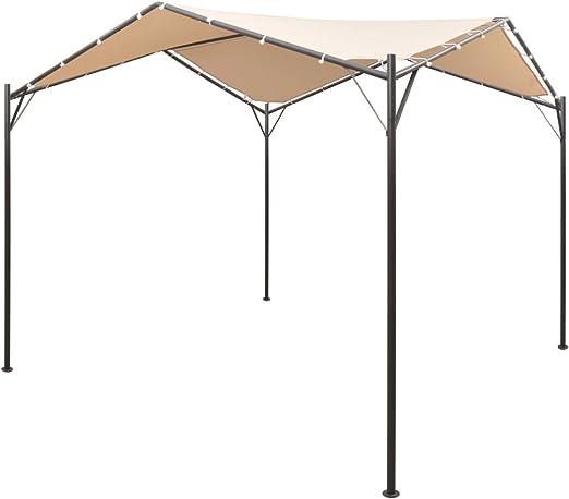 Shengfeng Carpa Diadema Cortina tettoia 3 x 3 m Acero Beige. Carpa Plegable Carpa de Jardín Carpa Eurolandia Carpa Exterior Carpa Impermeable: Amazon.es: Jardín