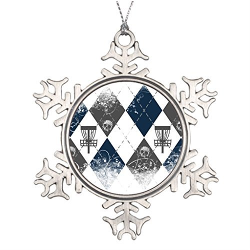 (Metal Ornaments Large Christmas Tree Snowflake Ornaments Frolf Blank One size)