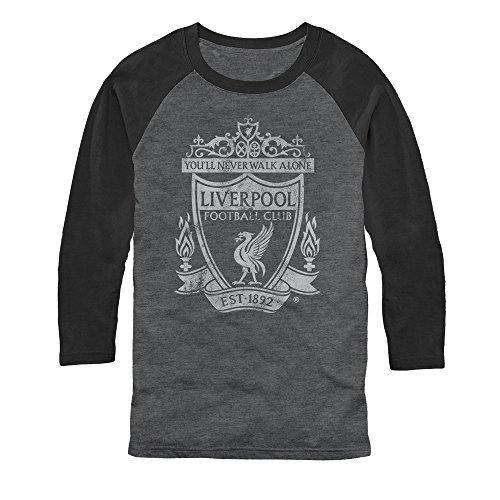 Liverpool Football Club Men's Classic Bird Shield 1892 Arctic Gray/Black Baseball (Arctic Shield Clothing)