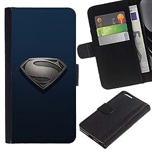 """JackGot ( Superhero S"""" ) Apple (5.5 inches!!!) iPhone 6+ Plus / 6S+ Plus la tarjeta de Crédito Slots PU Funda de cuero Monedero caso cubierta de piel"""