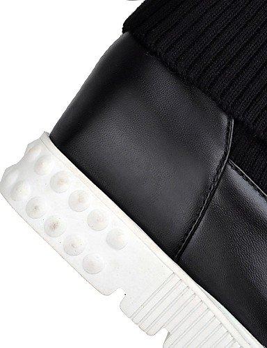 Black us5 Redonda Negro Moto Uk8 Mujer Eu42 Xzz Cn43 Uk3 5 Plataforma Semicuero Zapatos Vestido Casual Punta Botas 5 us10 5 5 Eu36 Cn35 Black De RxRwHPXf