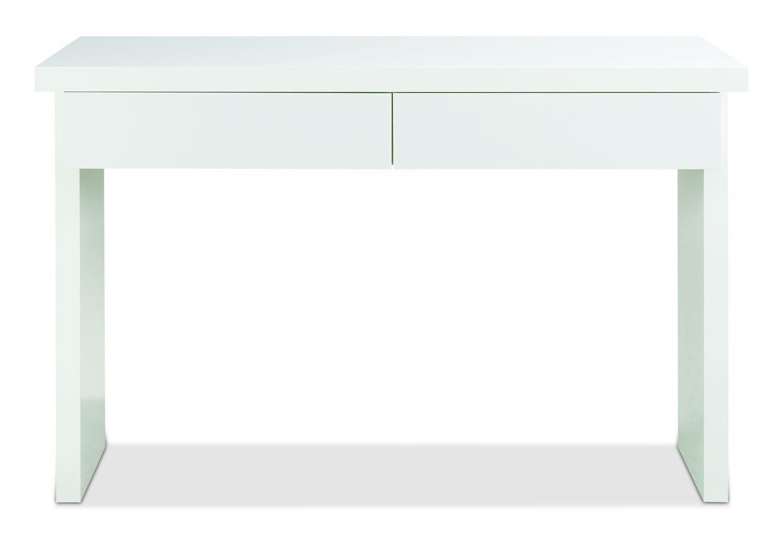 120cm breit Wei/ß Hochglanz Konsolentisch Schminktisch Frisierkommode GELA 2 Schubladen