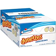 Hostess Donettes Mini Donuts, Powdered Sugar, 3 Ounce, 10 Count
