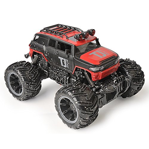 RC Car Toys, Remote Control Truck with 2.4GHz Radio Controlled Vehice Red Remote Control Car for Kids and Adults