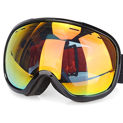 G4Free Ski Goggles for Men Women OTG Double Lens Anti fog Big Spherical Skiing Unisex Multicolor Snowboard Snowmobile Snow Goggles