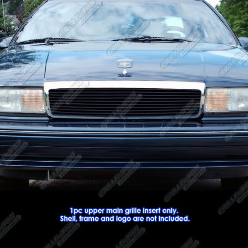 (APS Compatible with 1991-1996 Chevy Caprice Black Billet Grille Grill Insert #S18-H30068C)