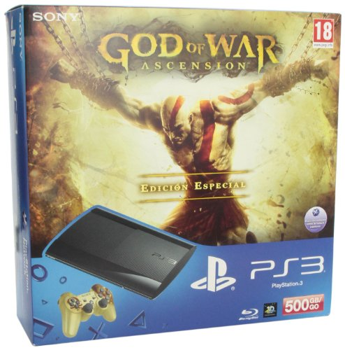 PlayStation 3 – Consola 500 GB + GOW Ascension + DS3 GOW