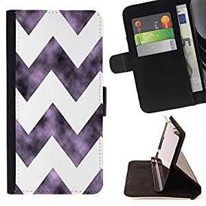 Dragon Case - FOR Samsung Galaxy Core Prime - Cool violet white big waves - Caja de la carpeta del caso en folio de cuero del tir¨®n de la cubierta protectora Shell