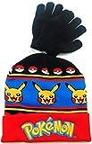Pokemon Pokeball & Pikachu Youth Beanie with Glove