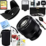 Sony (SEL85F18) FE 85mm F1.8 Full-frame E-mount Fast Prime Lens + 64GB Ultimate Filter & Flash Photography Bundle