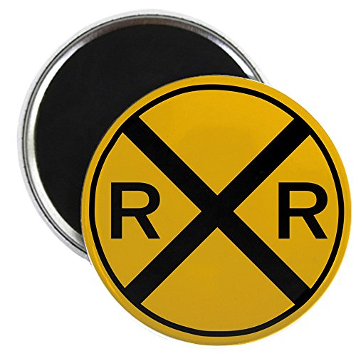 CafePress - Railroad Level Grade Crossing Magnet - 2.25