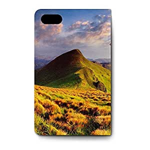 Leather Folio Phone Case For Apple iPhone 4/4S Leather Folio - Mountains Are Calling Travel Adventure Wallet Wrap-Around