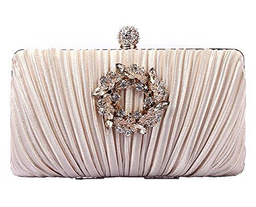 3 HopeEye Messenger Noble mxdwyb08 Élégant Diamants Femmes Clutches monnaie white porte femme Satin silver golden banquet 5 mariage Bag TPrTwSq