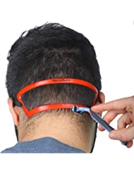 Revo Neck - Neckline Shaving Template Guide - Edge Up your Straight Neck Hairline - One Size Fits All Haircut Grooming Kit - Styling Tool - Use W/Clippers or Trimmer - Barber Supplies Set - Stencil
