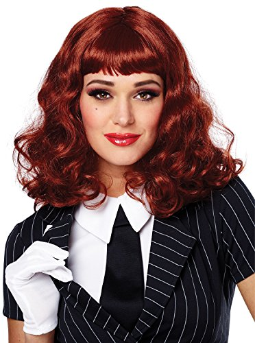 Costume Culture Women's Vegas Wig, Natural Red, One Size (Las Vegas Halloween Costume)
