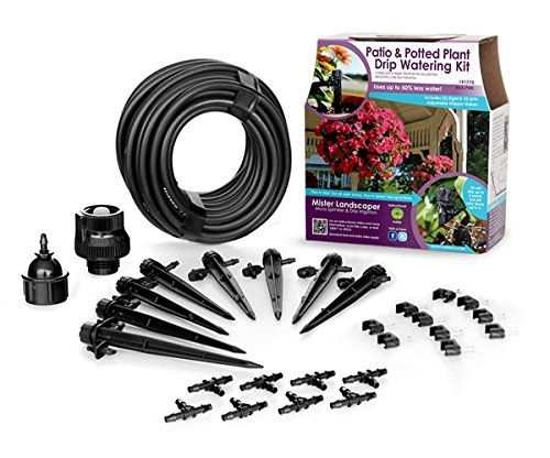 Mister Landscaper MLK-PWK Patio & Potting Plant Drip Irrigation Watering Kit