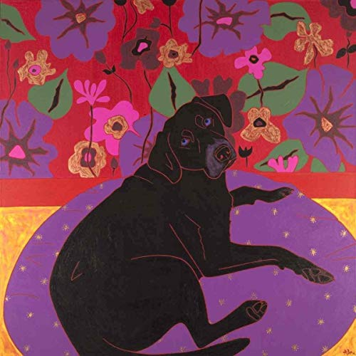 Original Dog Pop Art - Old Labrador Dog Art Print - Labrador Art - Dog Pop Art - by Angela Bond