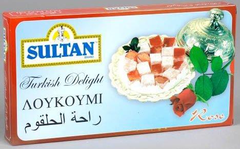 Sultan Turkish Delight - Rose Flavor 1 lbs box (Turkey)