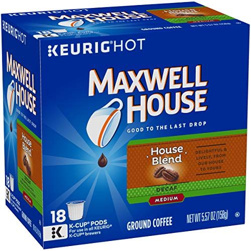Maxwell House House Blend Keurig K Cup Coffee Pods (72 Count, 4 Boxes of 18)