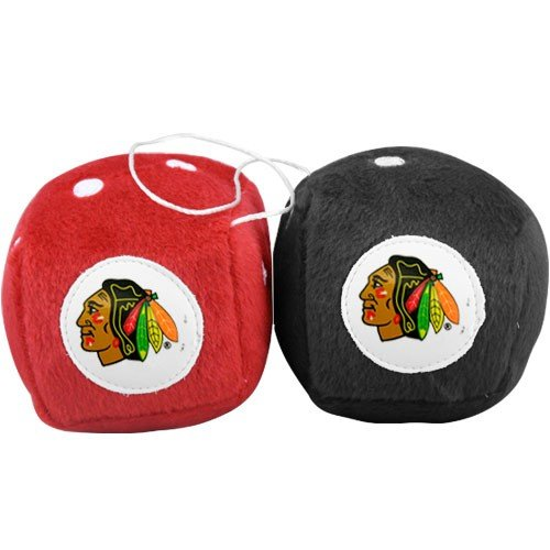 Fremont Die NHL Chicago Blackhawks Fuzzy Dice, 3