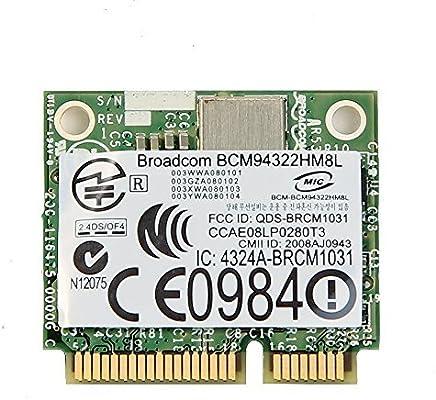Broadcom BCM94322HM8L BCM4322 802 11agn 5G+2 4G dual band Half PCI-E