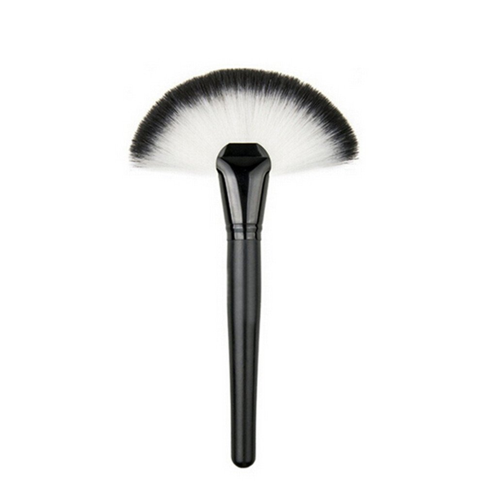 VWH Large Slim Fan Makeup Brush Blending Highlighter Face Contour Powder Brush