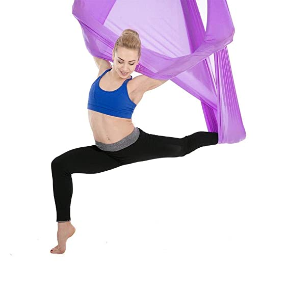 Amazon.com: HOKUGA Hamaca de yoga – Hamaca de antena para ...