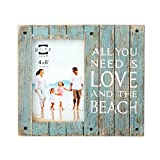 Cheap PRINZ Homestead 'All You Need is Love & The Beach' Wood Plank Frame, 4 x 6