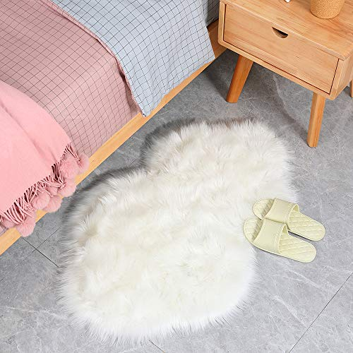 Cloud Bedroom Rugs, Premium Soft Luxury Fluffy Faux Fur Area Rug for Floor Living Room Bedroom Reading Room Study Nursery Couch Sofa Armchair Cushion Decor,2ft x 3ft, White (Best Way To Clean Leather Car Seats Naturally)