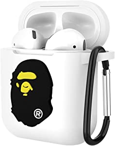 Airpods Case, Dolopow AirPods Accessories Shockproof Protective Premium Silicone Cover Skin for AirPods Charging Case 2 & 1 -Black Bape