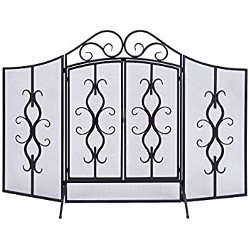 Amazon Com Deco 79 Metal Fire Screen 60 By 40 Inch Home
