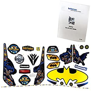 Power Wheels CDD21 Batman Kawasaki Decal Sheet #3900-3179 Bundled With Use & Care Guide