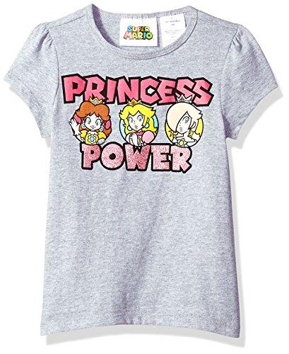 (Nintendo Girls' Big Squad Goals T-Shirt, Gray Heather,)