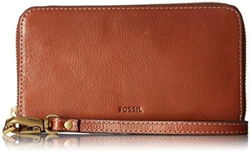 Fossil Emma RFID Smartphone Wristlet Wallet (Fossil Handbag Leather)