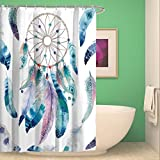 Tidy decor Waterproof Shower Curtain Dream Catcher Bathroom with 12 Hooks Mildew Resistant(69inW70inL)