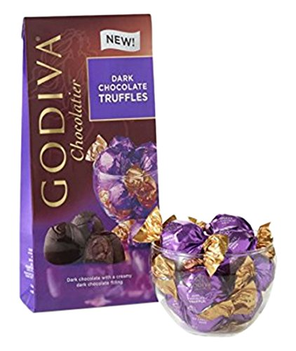 Godiva Chocolatier Wrapped Dark Chocolate Truffles, Great for Favors, 12 Count Bag (Pack of 12 Bags) by GODIVA Chocolatier