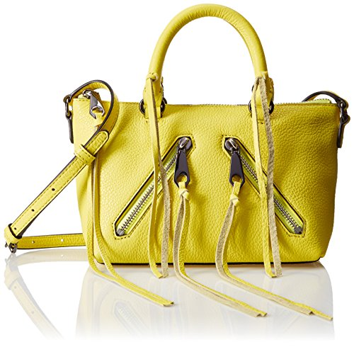 Designer Handbags Accessories - Rebecca Minkoff Micro Moto Satchel Cross Body, Limeade, One Size
