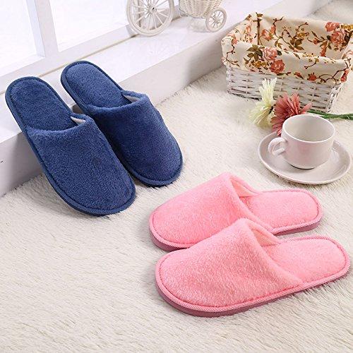 Hausschuhe, Männer Mädchen Pantoffeln, Männer Mädchen Plüschtiere Pantoffeln, Männer Mädchen für Herbst Winter warme bequeme Hausschuhe rutschfeste Hausschuhe, braun, 43-44 grau
