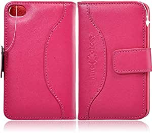 iZero Leather Case with Magnatic Lock for iPhone 4S (Pink)