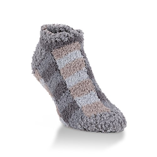 World's Softest Women's Ultra-Soft Knit Low Ankle Socks One Size Fits Most (Shady Plaid)