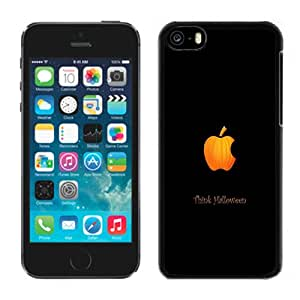 NEW Unique Custom Designed iPhone 5C Phone Case With Think Halloween Apple Logo_Black Phone Case