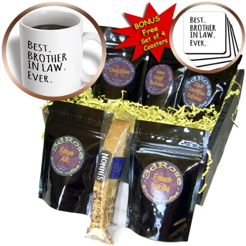 InspirationzStore Typography - Best Brother in Law Ever - Family and relatives gifts - black text - Coffee Gift Baskets - Coffee Gift Basket (cgb_151481_1)